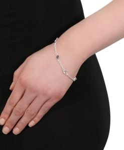 Model wearing Silver Katie Bracelet