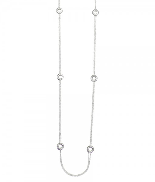 Hoopla silver necklace