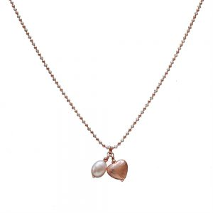 Rose and pearl necklace