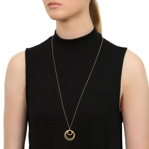 Caroline Gold Circles Necklace
