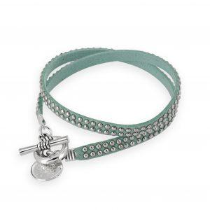 Stunning Aqua Jojo bracelet with tree of life disc charm