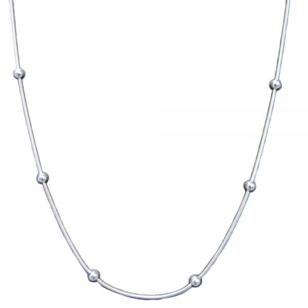 Bella Ball Silver Necklace