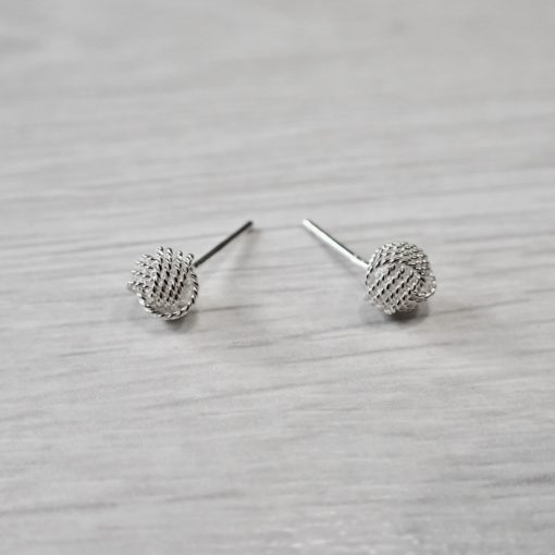 Frosted Knot Earrings