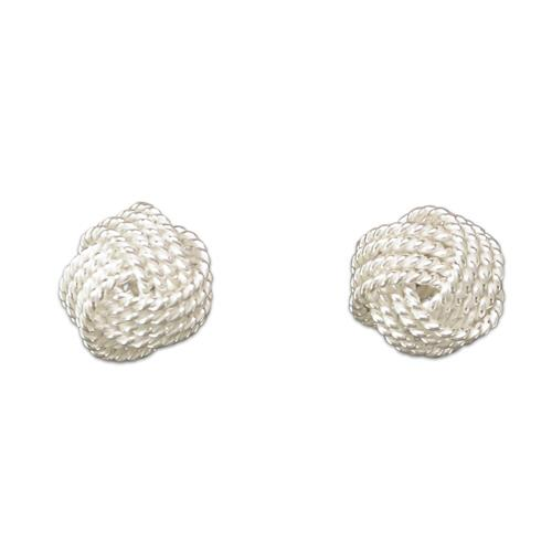Frosted knot stud