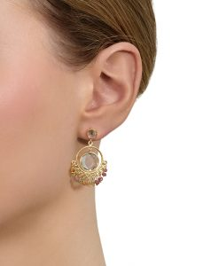 Model wearing Ellie Earrings