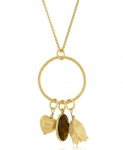 Gold Harriet Charm Necklace