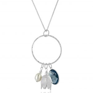 Silver Harriet Charm Necklace