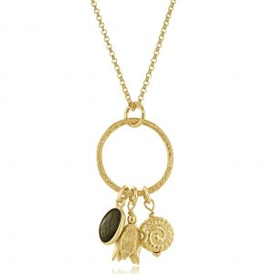 Gold Heidi Charm Necklace
