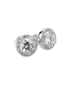 Sophia Cubic Zirconia Halo Stud Earrings