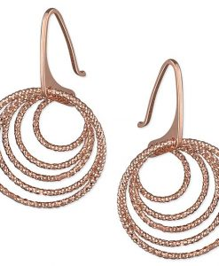 Rose Gold Circle Earrings