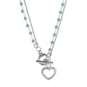 Turquoise Flora shown as a necklace