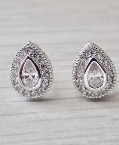 Tasia vintage style silver earrings