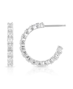 Carolyn Cubic Zirconia Hoop Earrings