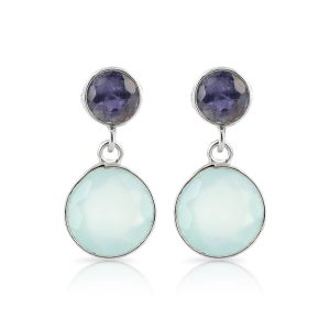 Iolite Aqua Duet Earrings