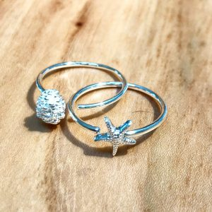 Beautiful new Starfish and Fircone rings
