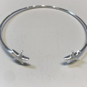 Silver Starfish bangle