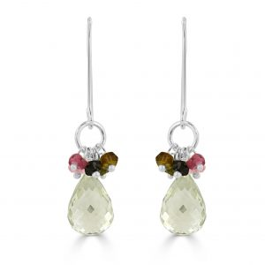 Iona Green Amethyst Earrings