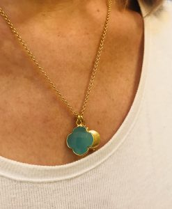 Gold Provence necklace - Aqua
