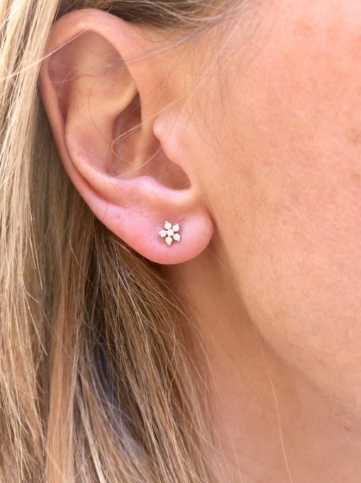 CZ Flower earrings