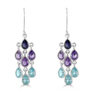 Aqua Cascade Earrings