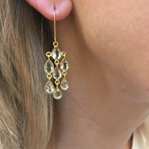 gold cascade earrings