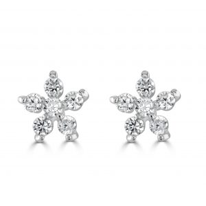 Mini CZ Flower Earrings
