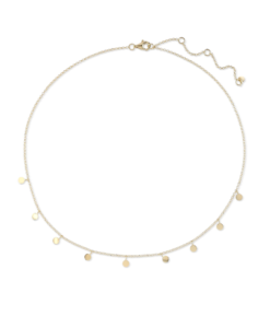 Gold Tilly Disc Necklace