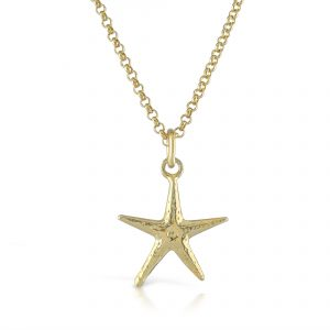 Gold Starfish Pendant