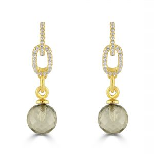 Diana green Amethyst earrings
