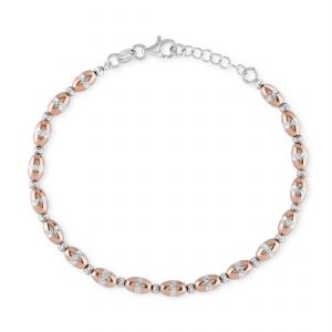 Rose Oval Ball Sparkle bracelet