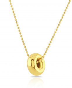 Darcy Gold Nugget Pendant Necklace
