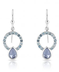Allegra Silver Blue Topaz Earrings