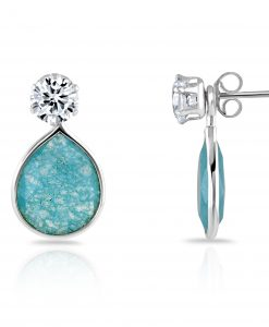 Annabel Earring with blue chalcedony quartz drop