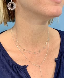 Silver Binki with Tilly Bobble necklace