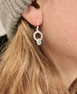 blue Silver Allegra Earrings