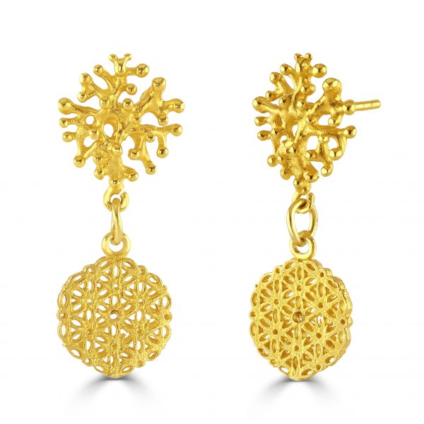 Stunning Gold Plated drop earrings