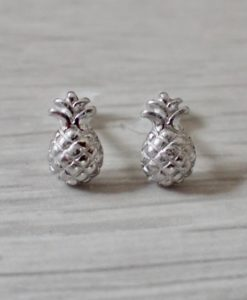 Silver Pineapple Studs