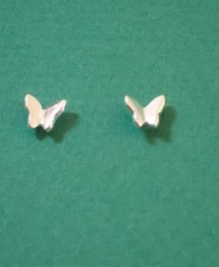 Mini Butterfly silver stud