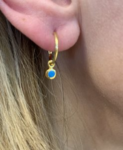 Gold Turquoise Birthstone Earrings