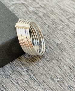 multi band sterling silver ring
