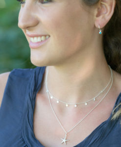 Tilly Disc Silver Necklace