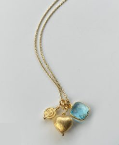 Sophie Gold Heart Charm Necklace