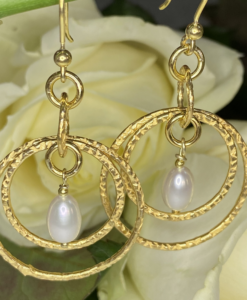 Merrill Gold and Pearl Earrings