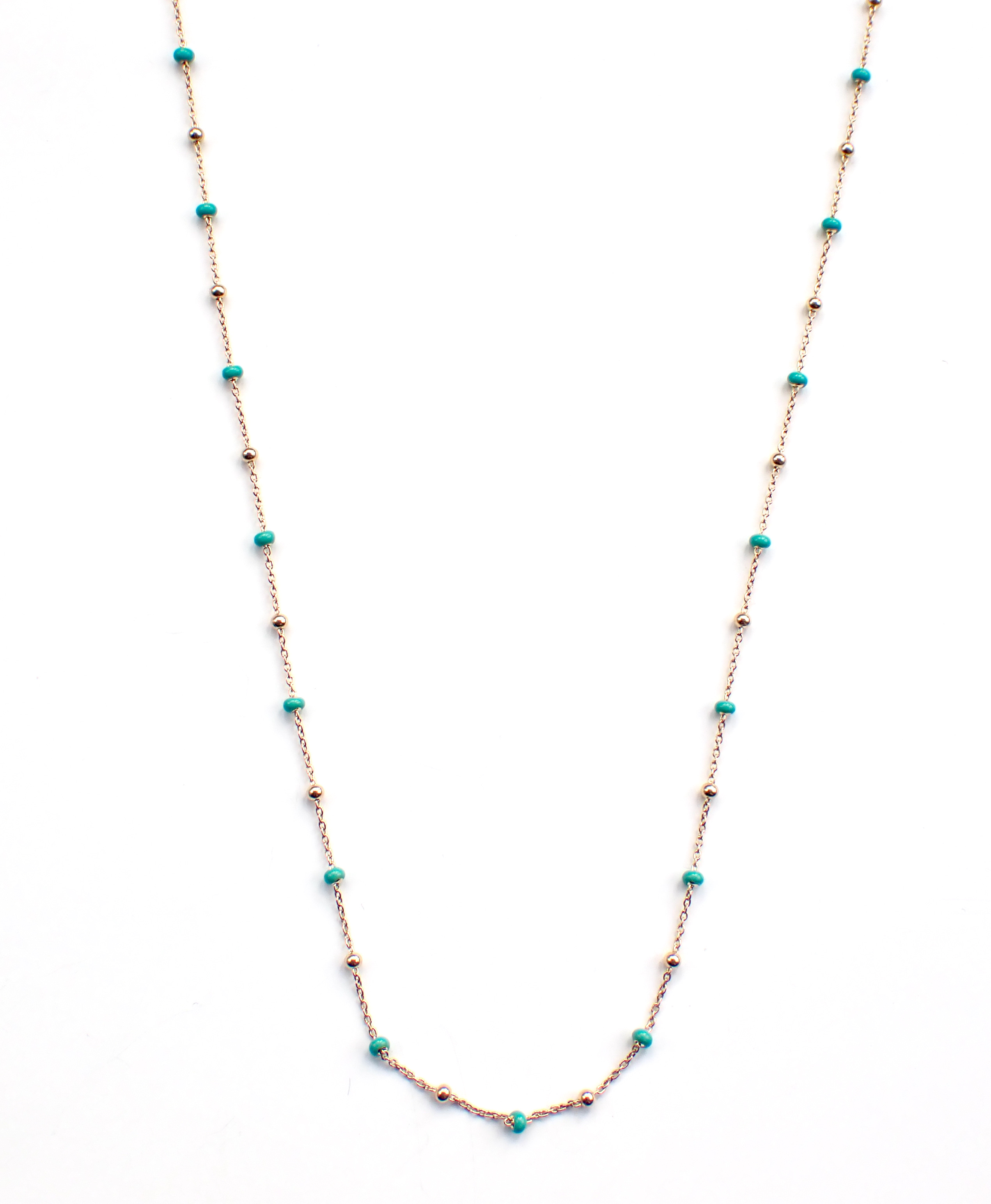 Josie Gold Turquoise Necklace