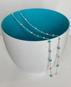 Josie Silver and Turquoise necklace