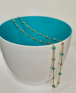 Josie gold and turquoise necklace