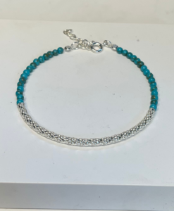 Zoe Turquoise and Silver Bracelet